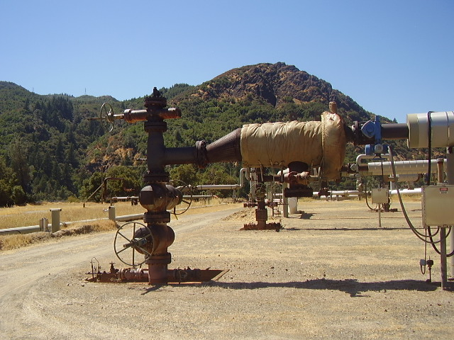 A steam well at The Geysers